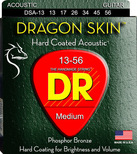 DR Strings Dragon Skin Acoustic 13-56