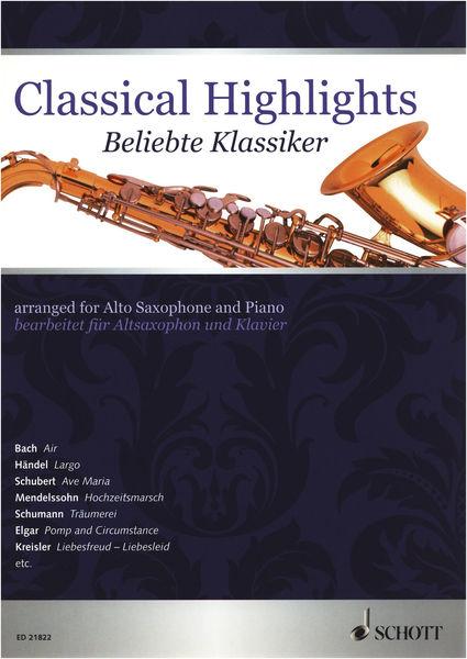 Schott Classical Highlights A-Sax