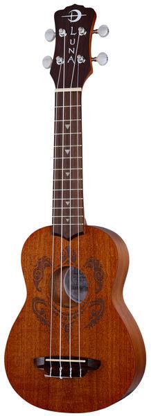 Luna Guitars Uke Tribal Turtle Soprano Pack
