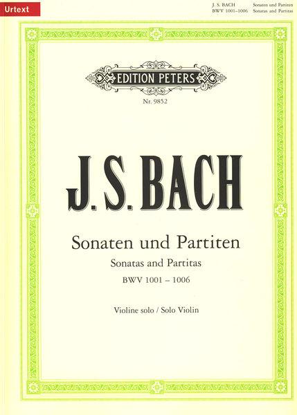 Edition Peters Bach Sonatas Partitas Violin