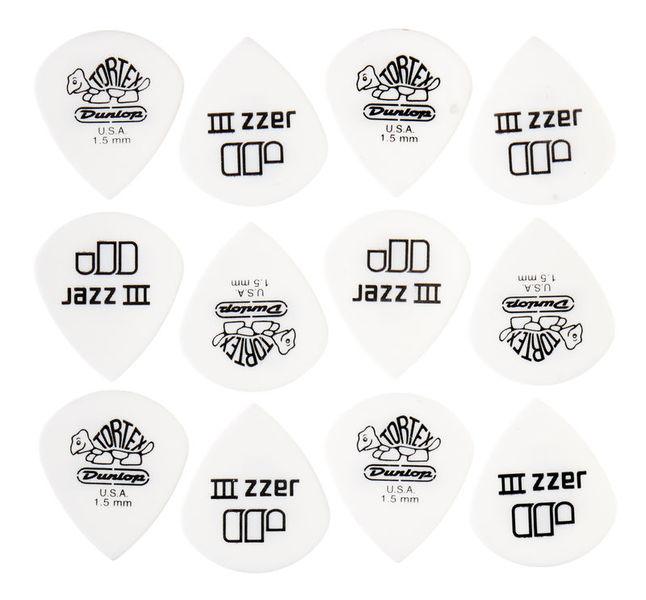 Dunlop Tortex Jazz III White 1,50