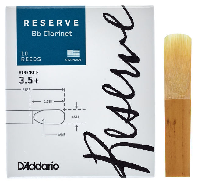 DAddario Woodwinds Reserve Clarinet 3.5+