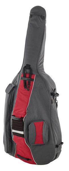 Petz Double Bass Bag 3/4 GR/RD