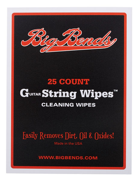 Big Bends String Cleaning Wipes 25