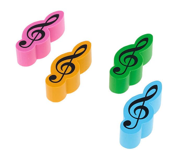 agifty Eraser Violin Clef 4er Set