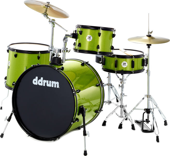 DDrum D2 Rock Starter Set Lime Spkl