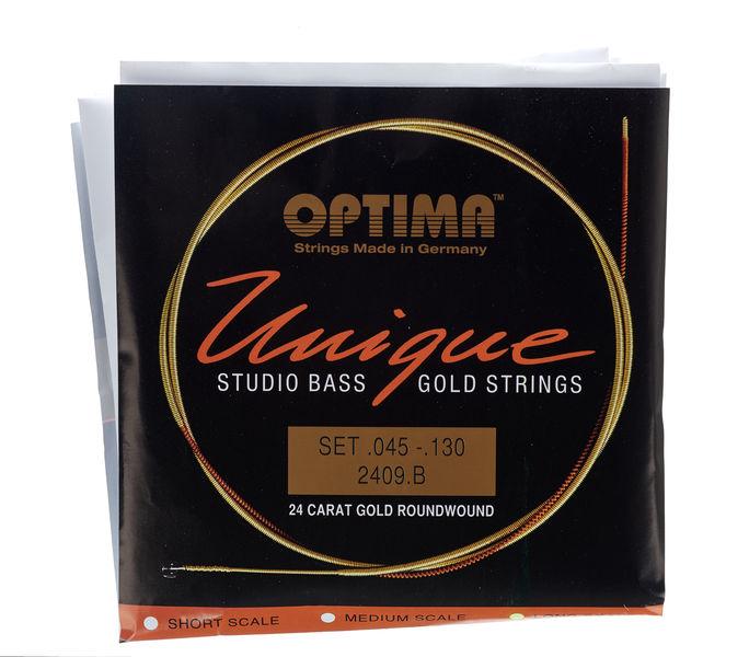 Optima 2409B Bass Gold Strings