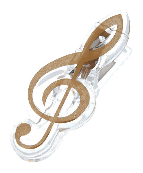 agifty Music Clip Violin Clef Gold