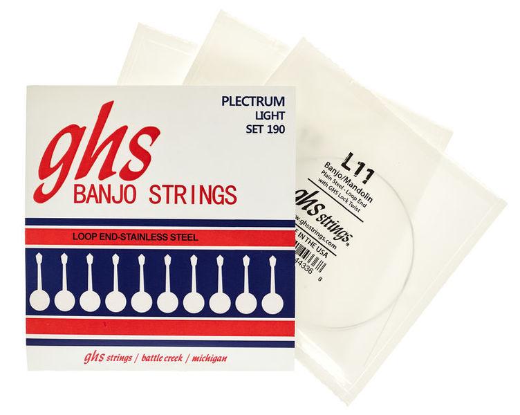 GHS Banjo Steel 4 String Set
