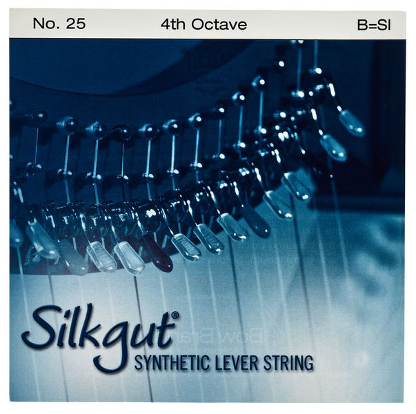 Bow Brand Silkgut 4th B Harp Str. No.25