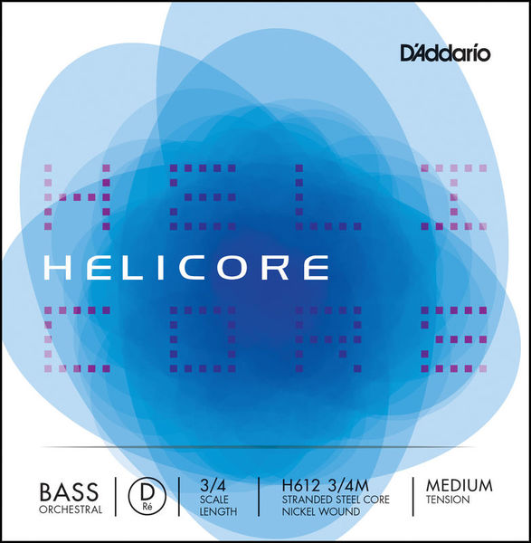 Daddario H612-3/4M Helicore Bass D Med.