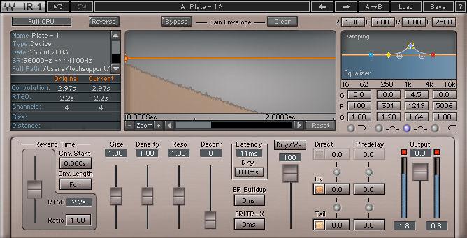 Waves IR1 Convolution Reverb