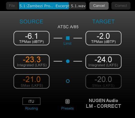 Nugen Audio LM-Correct 2