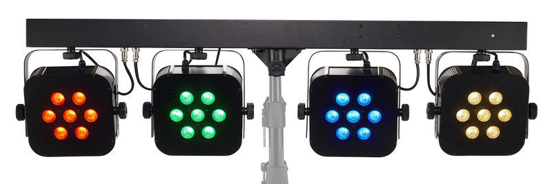 Stairville Stage Quad LED Bundle RGB WW