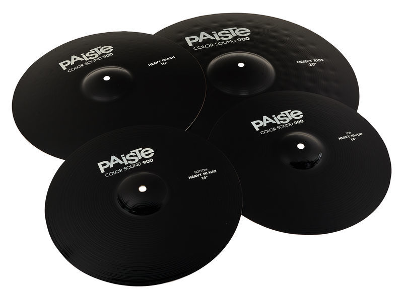 Paiste 900 Color Rock Cymbal Set BK