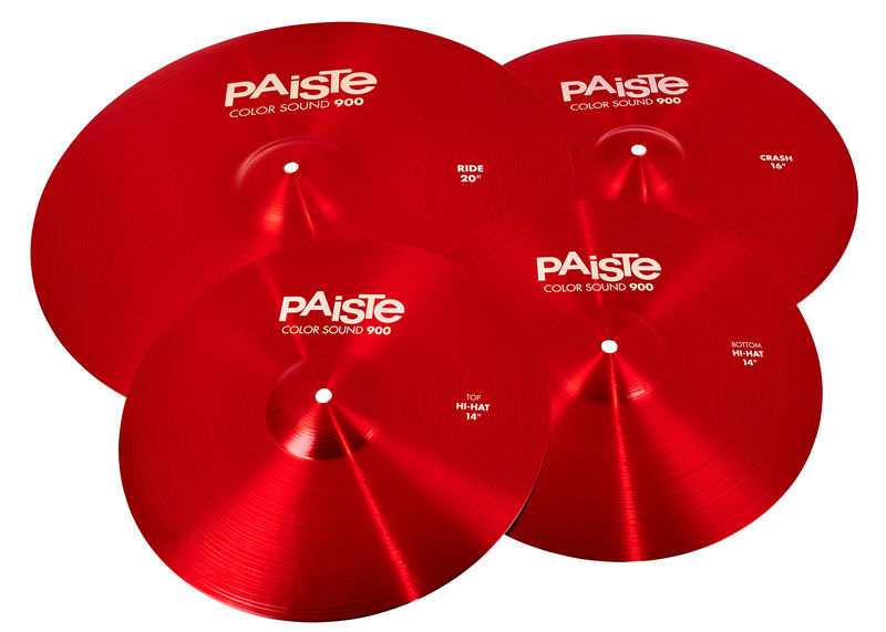 Paiste 900 Color Univ. Cymbal Set RED