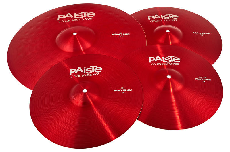 Paiste 900 Color Rock Cymbal Set RED