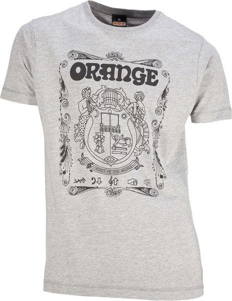Orange T-Shirt Crest Grey S