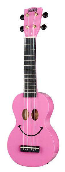Mahalo Smiley Ukulele Pink