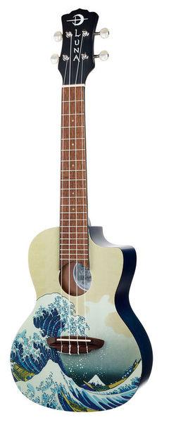 Luna Guitars Ukulele Great Wave Concert