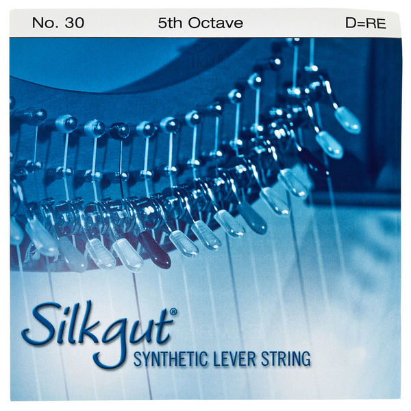 Bow Brand Silkgut 5th D Harp Str. No.30