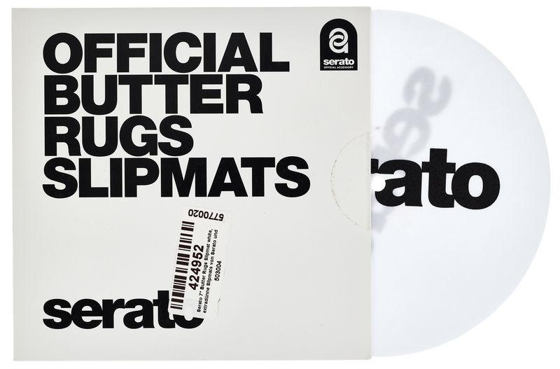 """Serato 7""""Butter Rugs Slipmat white"""