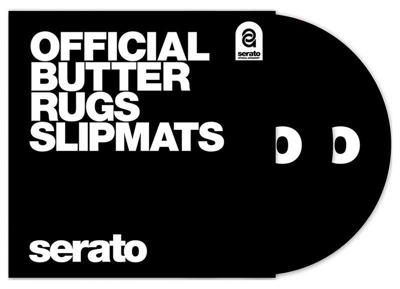 """Serato Butter Rugs 12""""Slipmat Black"""