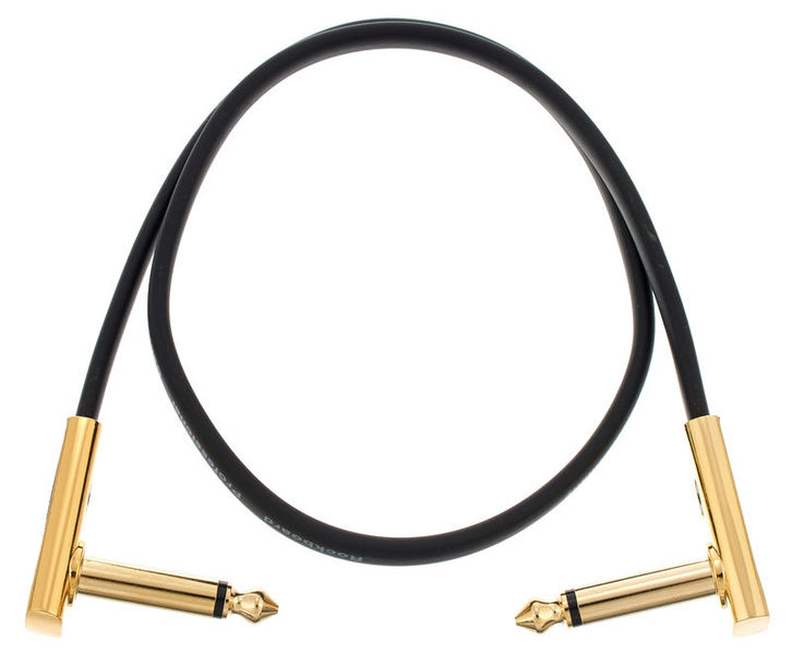 Rockboard Flat Patch Cable Gold 45 cm