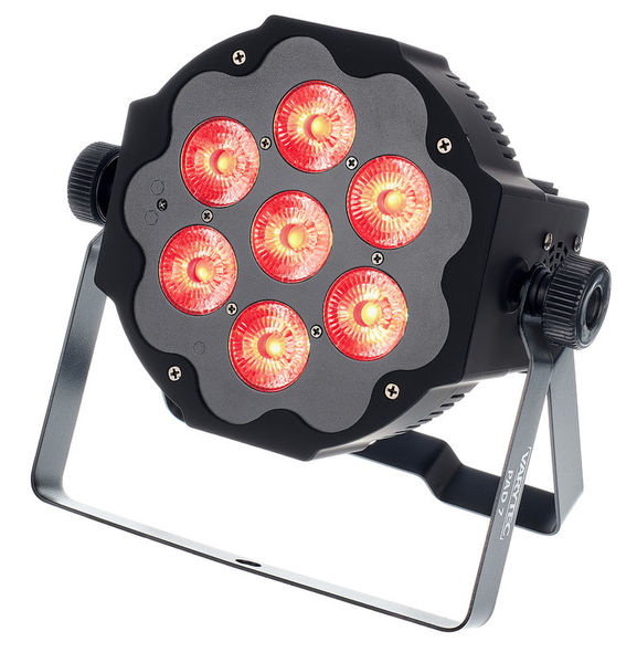 Varytec LED Pad7 7x10W 6in1 RGBAWUV BL