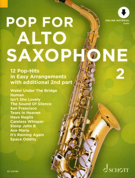 Schott Pop For Alto Saxophone 2