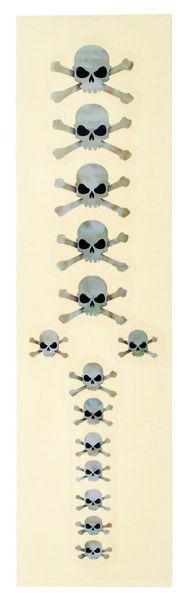 Jockomo Skull Sticker White Pearl