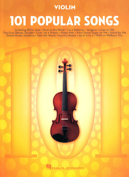 Hal Leonard 101 Popular Songs Violin