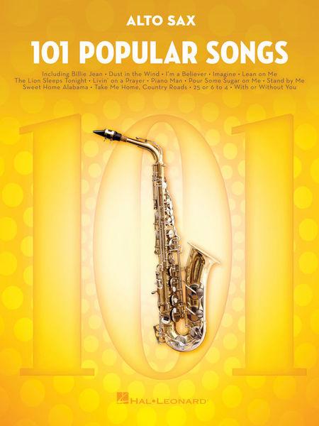 Hal Leonard 101 Popular Songs Alto Sax