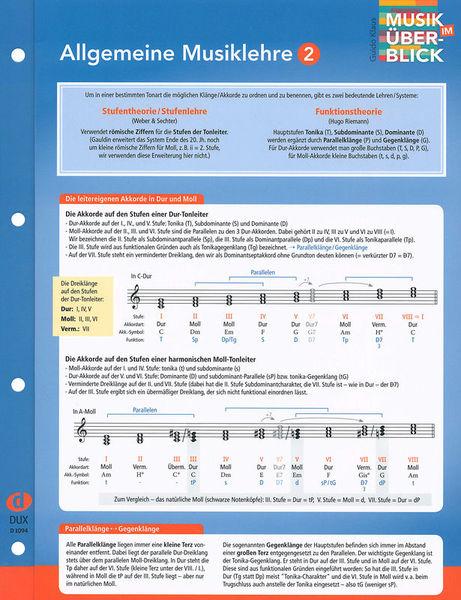 Edition Dux Musiklehre 2 Überblick