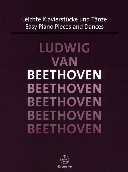 Bärenreiter Beethoven Easy Piano Pieces