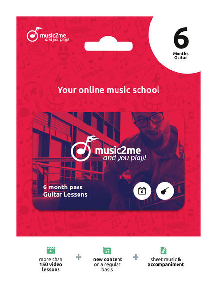 music2me Guitar Subscription 6 Months