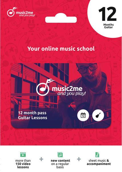 music2me Guitar Subscription 12 Mon.