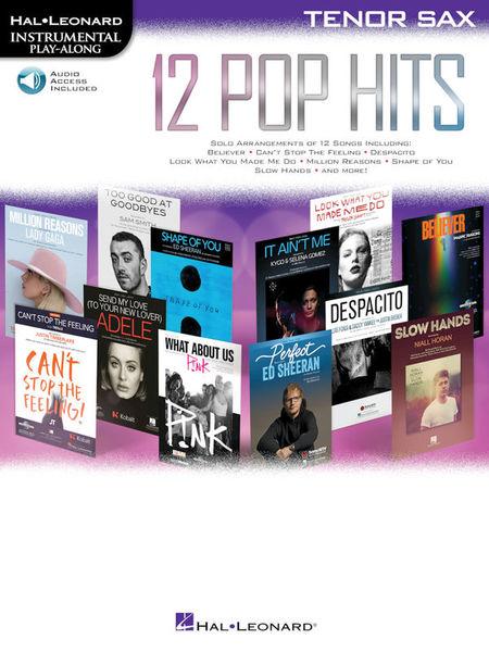 Hal Leonard 12 Pop Hits T-Sax