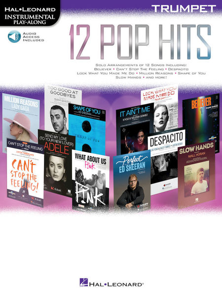 Hal Leonard 12 Pop Hits Trumpet