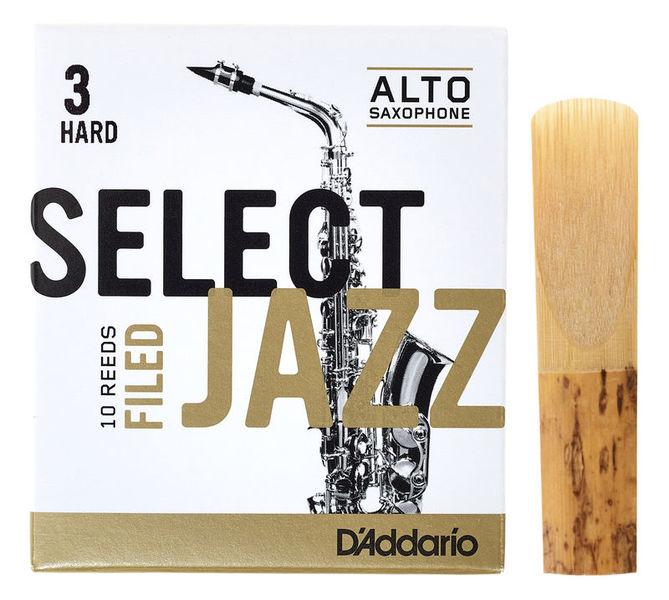 DAddario Woodwinds Select Jazz Filed Alto 3H