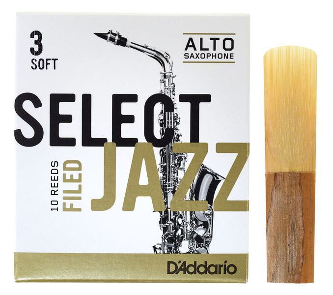 DAddario Woodwinds Select Jazz Filed Alto 3S