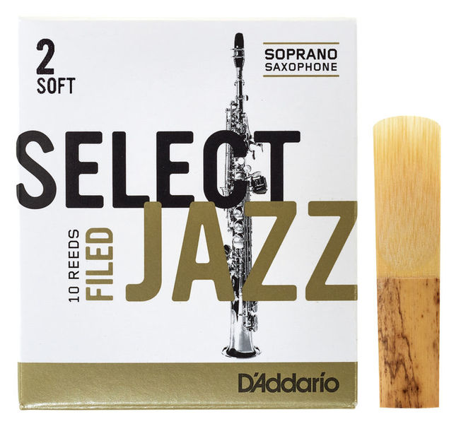 DAddario Woodwinds Select Jazz Filed Soprano 2S