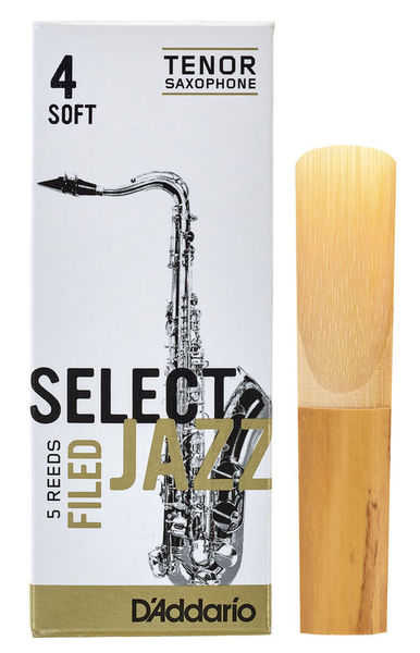 DAddario Woodwinds Select Jazz Filed Tenor 4S
