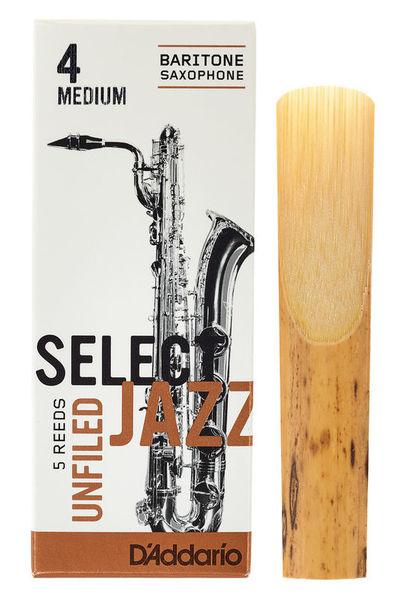 DAddario Woodwinds Select Jazz Unfiled Bariton 4M