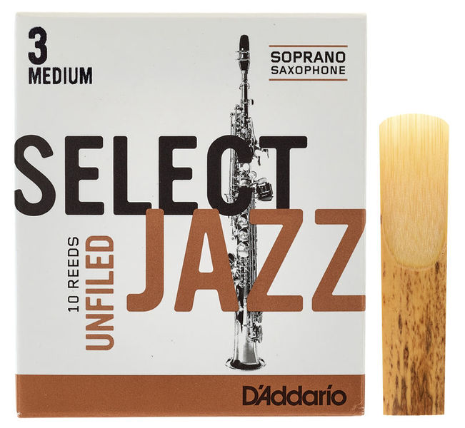 DAddario Woodwinds Select Jazz Unfiled Soprano 3M