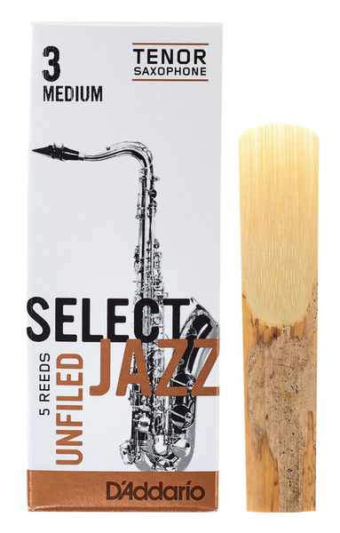 DAddario Woodwinds Select Jazz Unfiled Tenor 3M