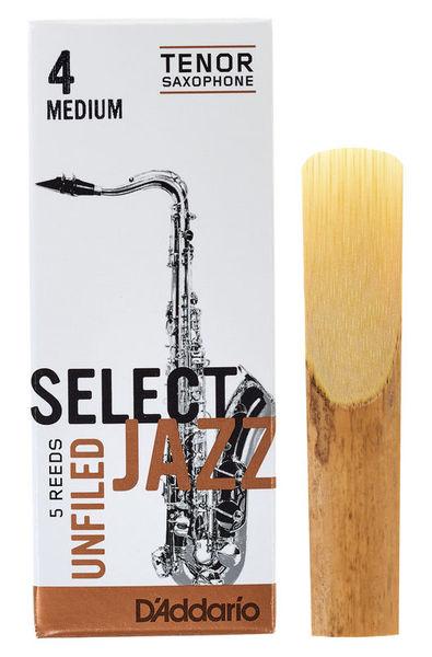 DAddario Woodwinds Select Jazz Unfiled Tenor 4M