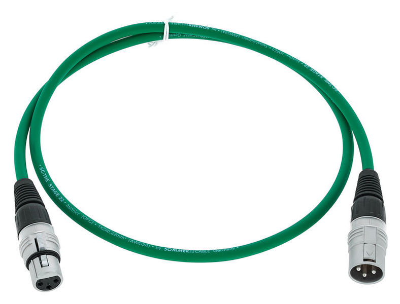 Sommer Cable Stage 22 SGHN GN 1,0m