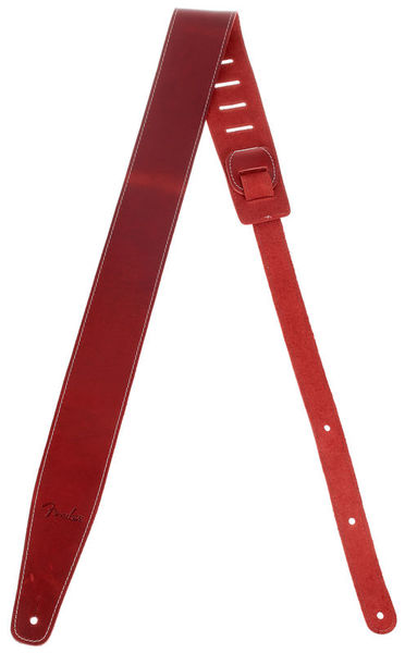 Fender Broken-in Leather Strap Red