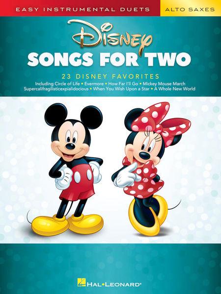 Hal Leonard Disney Songs for two Alto Sax